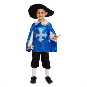 Age 7-9 Medium BOYS Childs Musketeer Fancy Dress Costume